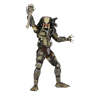 "NECA Predator - 7"" scale action figure - 30th anniversary Jungle Hunter Unmasked: Toys & Games"