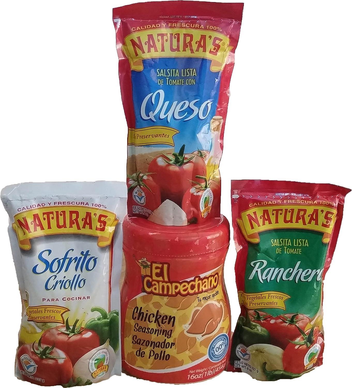 Amazon.com : Combo Salsas Con Consomé De Pollo/combo Sauces with Chicken Seasoning : Grocery & Gourmet Food