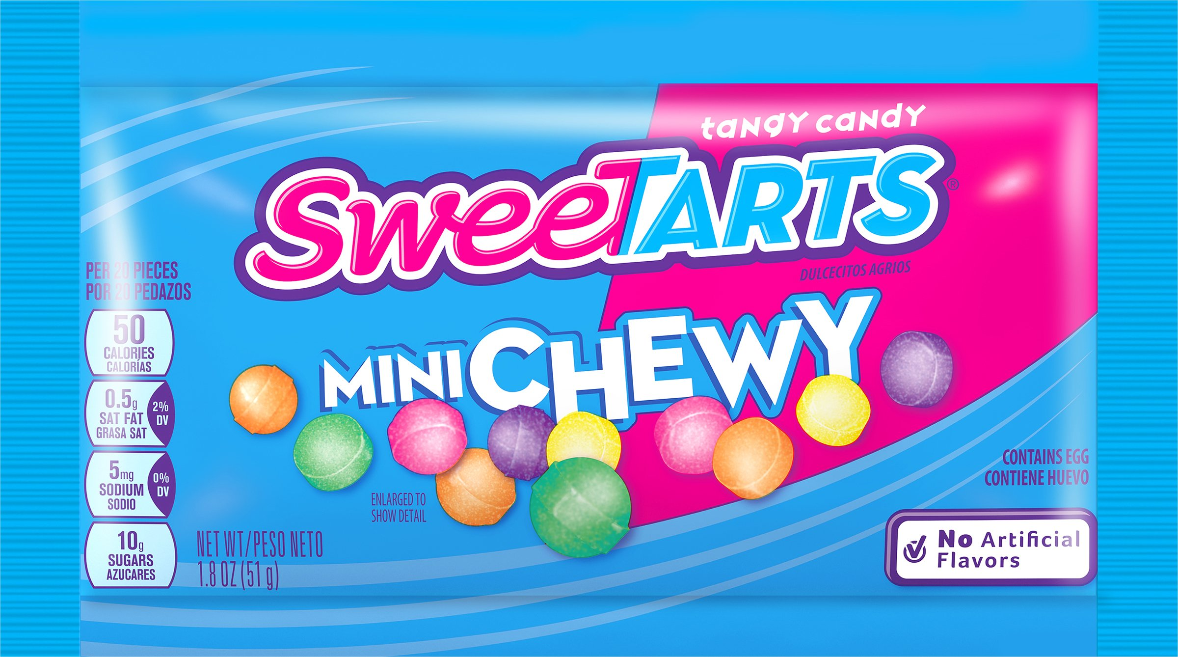 SweeTarts Mini Chewy Candy, 1.8-Ounce Pouches (Pack of 24)