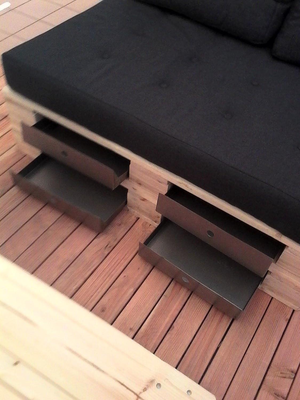 2 Schubladen inkl. Zubehör aus Edelstahl INOX für Möbeln aus ...