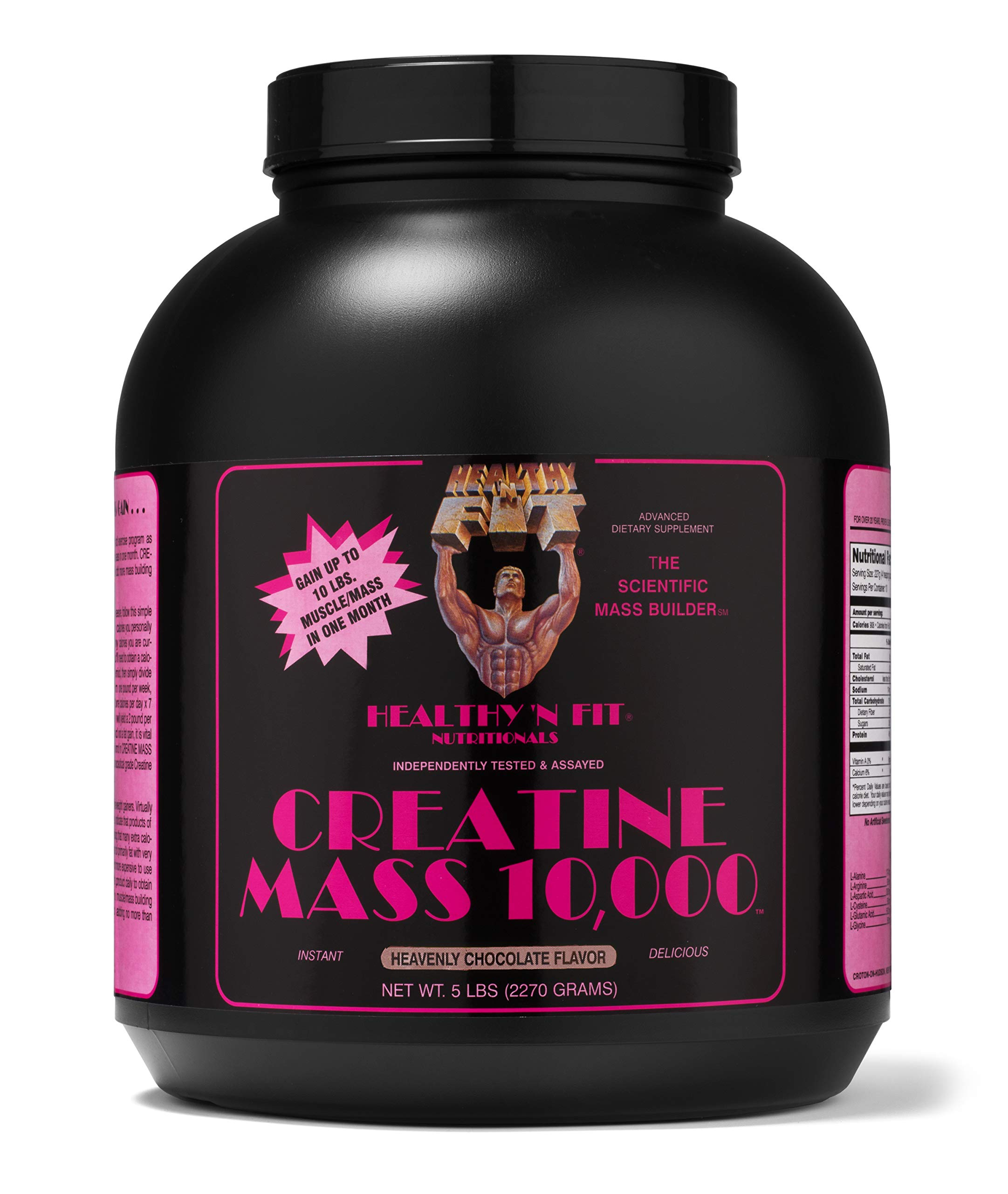 Healthy 'n Fit Creatine Mass 10000 5-pound Bottle Chocolate,  Tub by Healthy 'N Fit