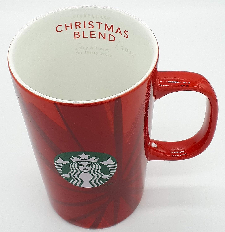 Starbucks Christmas Coffee Mugs.Starbucks 30th Anniversary 2014 Christmas Blend Red Coffee Mug 12 Fl Oz