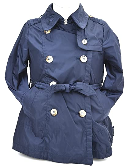 the latest 87475 f8423 Moncler Giacca Trench Bambina Junior Nylon Blue Art. PDS039 ...
