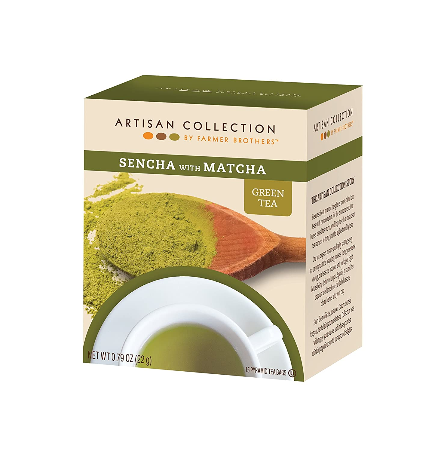 Artisan Collection by Farmer Brothers (Sencha with Matcha Green Tea), 6/15 ct boxes 81wtaHcK6yL