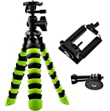 Bontend Flexible Tripod with Iphone and Smartphone Holder - A Light Camera Stand for DSLR, SLR - Free Gopro Mount