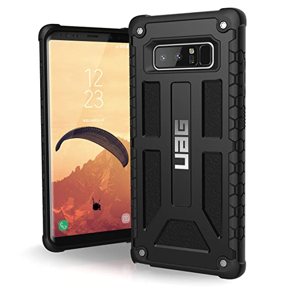 designer fashion 78e2a adb89 UAG Samsung Note 8 Monarch Feather-Light Rugged [BLACK] Military Drop  Tested Phone Case