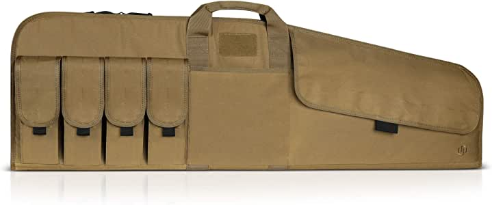 """Savior Equipment The Patriot Single Scoped Long Rifle Case Gun Bag w/Padded Handle - Adjustable Sling, Dual Lockable Zippers, Multiple Magazine Holder Pouch, Available Length in 35"""" 41"""" 45"""""""