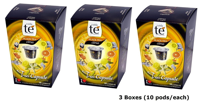 Amazon.com : 30 Nespresso Compatible Pods - Origen Tea, Black Citrus Tea, 3 Boxes - 10 Pods per box : Coffee Brewing Machine Capsules : Grocery & Gourmet ...