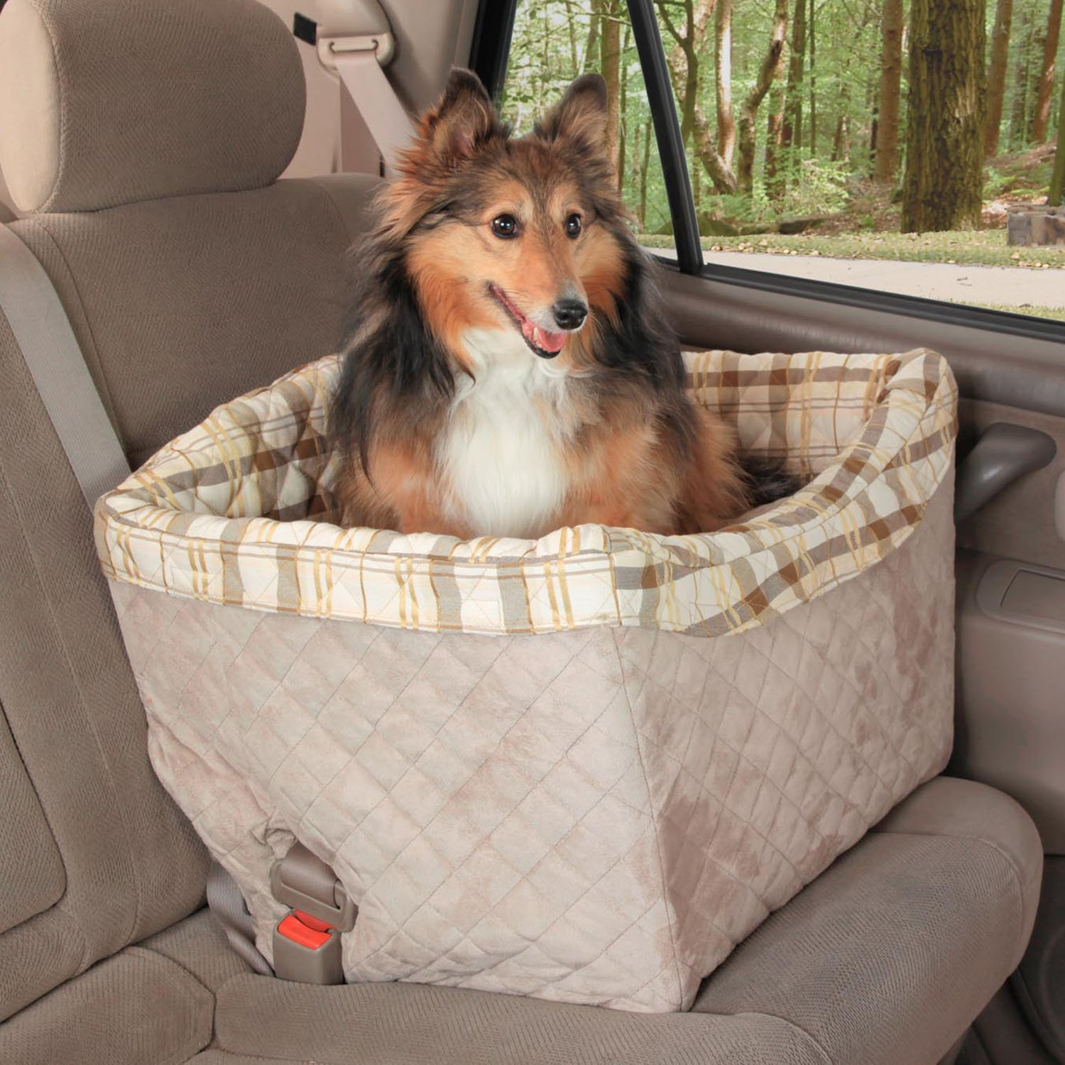 Amazon Solvit Tagalong On Seat Pet Booster Deluxe Jumbo Automotive Seats Supplies