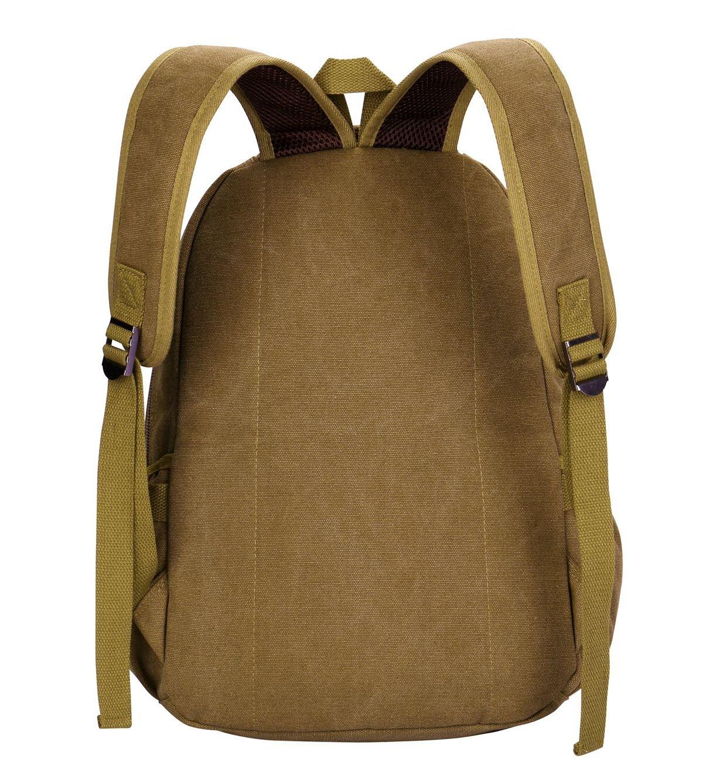 Laptop Backpack,VIDENG Business Canvas Handbags Bookbag for College Travel Backpack for Under 15 17 Inch Laptop (BCS-Brown) by VIDENG (Image #2)