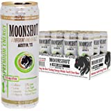 MOONSHOT Sparkling Sour Apple Energy Drink • 30% Juice • 115mg Caffeine • Pure Cane Sugar • No Artificial Flavors, Sweeteners, Colors or Preservatives • The Best Tasting Energy Drink Made