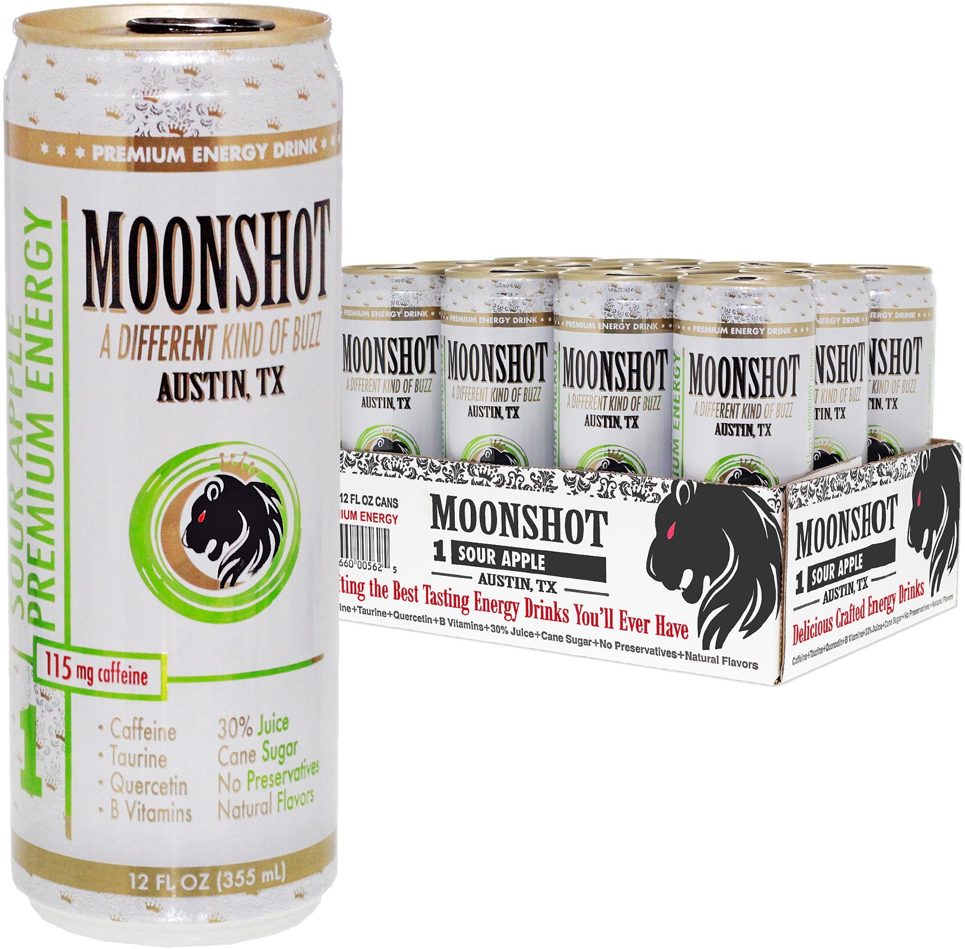 Amazon.com : MOONSHOT Sparkling Coconut Pineapple Energy Drink • 30 ...