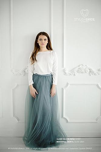 1a60de6da9 Amazon.com: Glory II Tulle Dress with Simple Silk Blouse, Silk Tulle ...