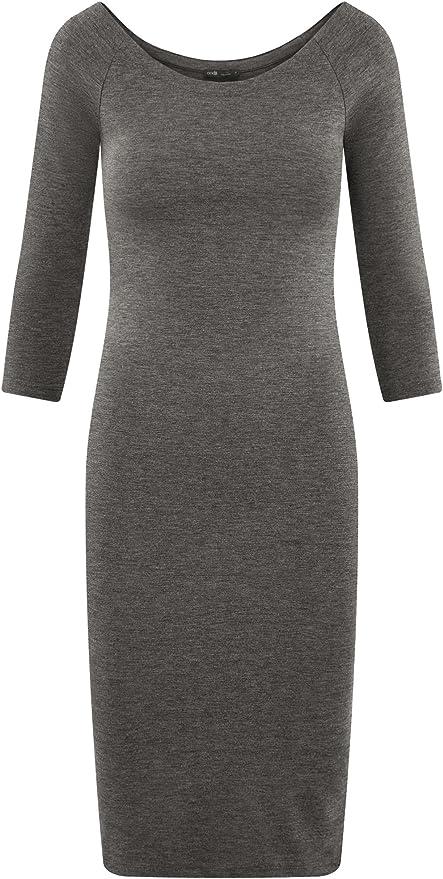 oodji Ultra Femme Robe Moulante /à Col Roul/é