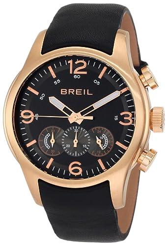 Breil Milano Men s TW0775 New Globe Rose Gold Chronograph Screwed Caseback Watch