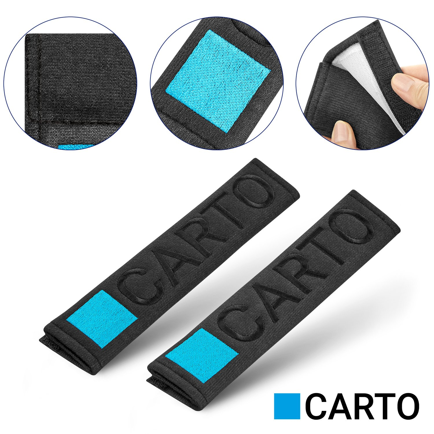 Carto Seat Belt Pads Well-padded Seatbelts Protectors Covers Shoulder Pads High Quality Goods Car Seat Accessories
