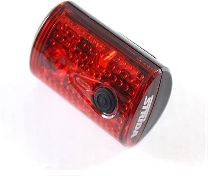 Strida Bike Head Light USB rechargeable black 2 white LEDs