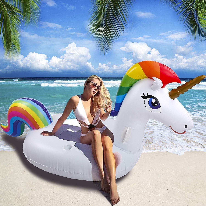 NEWYANG Unicornio Inflable Colchoneta - Juguete Hinchable ...