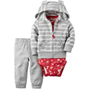 Carter's Baby Boys' Cardigan Sets 121g762, Heather/Red Stripe, 12 Months
