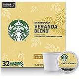 Starbucks Blonde Roast K-Cup Coffee Pods — Veranda Blend for Keurig Brewers — 1 Box (32 Pods)