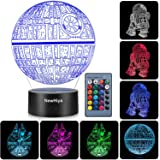 3D Illusion Star Wars Night Light, Three Pattern and 7 Color Change Decor Lamp - Perfect Gifts for Kids and Star Wars…