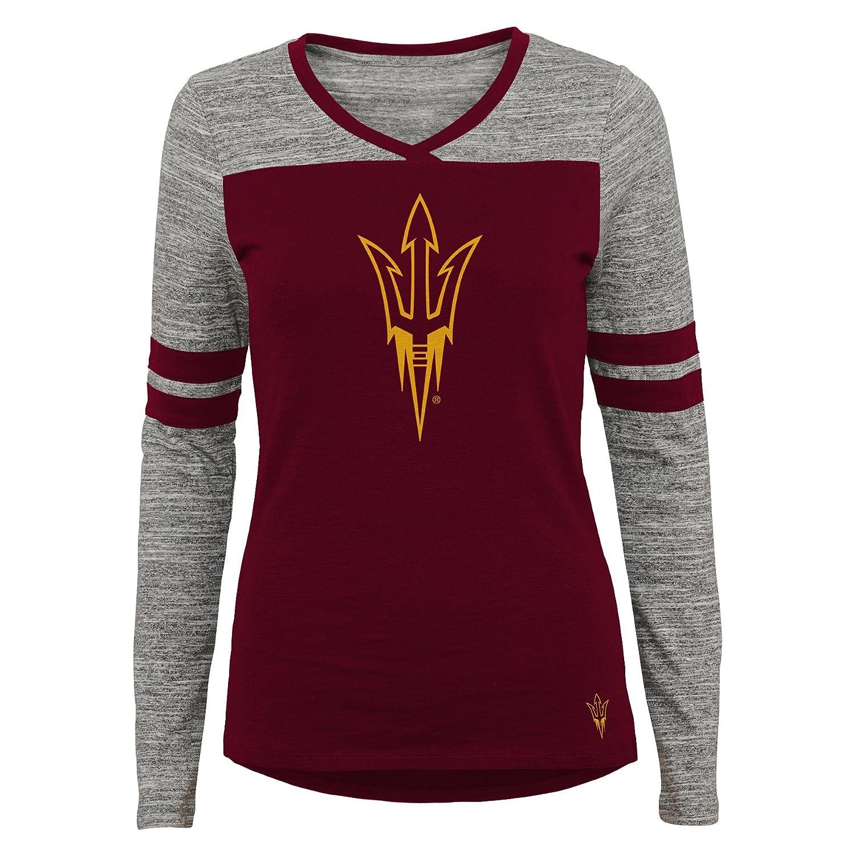 Medium 7-9 Team Color NCAA Arizona State Sun Devils Juniors Outerstuff Secret Fan Long Sleeve Football Tee