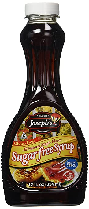 Amazon Com Josephs Syrup Maple Sugar Free Gluten Free 12 Fl Oz Joseph S Sugar Free Syrup Grocery Gourmet Food