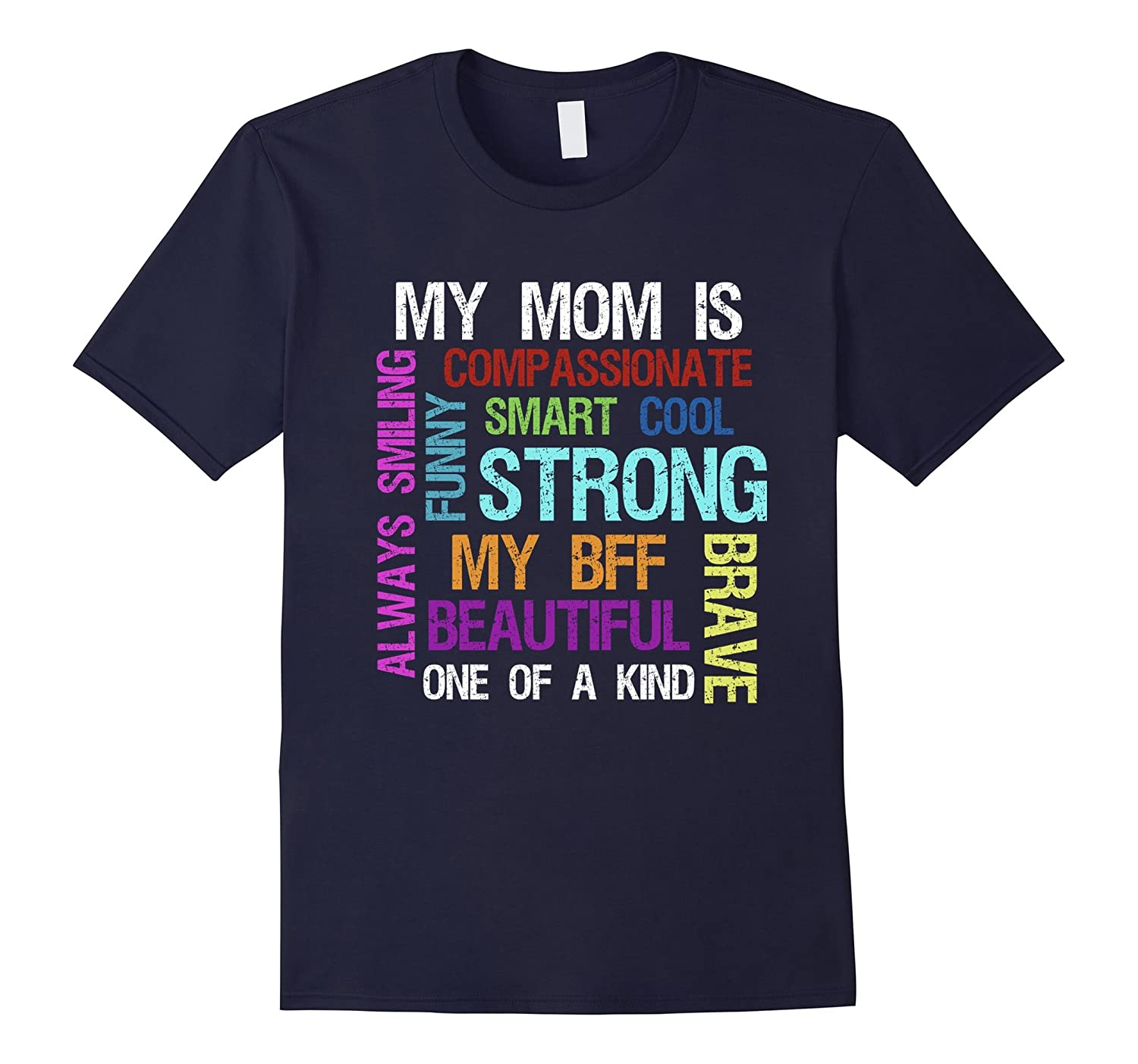 My Mom Is Strong Funny Happy Mothers Day T Shirt-TD