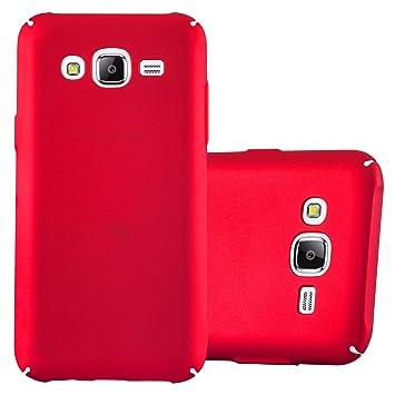 Cadorabo Funda para Samsung Galaxy J5 2015 en Metal Rojo - Cubierta Protección de Plástico Duro Super Delgada e Inflexible con Antichoque - Case Cover ...