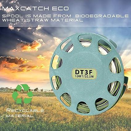 MAXIMUMCATCH TroutLite DT Fliegenschnur 3//4//5//6F 90FT Double Taper Fliegenfischen Schnur mit 2 Schlaufen Beige//Grau//Salbei