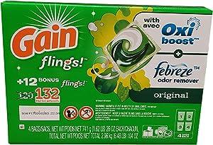Gain GAIN Flings Original Scent (132Count), 104 Oz