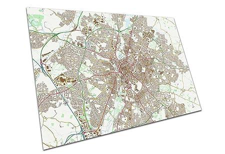 Eacanvas Leicester England Street Map City Town Original Map Size A2