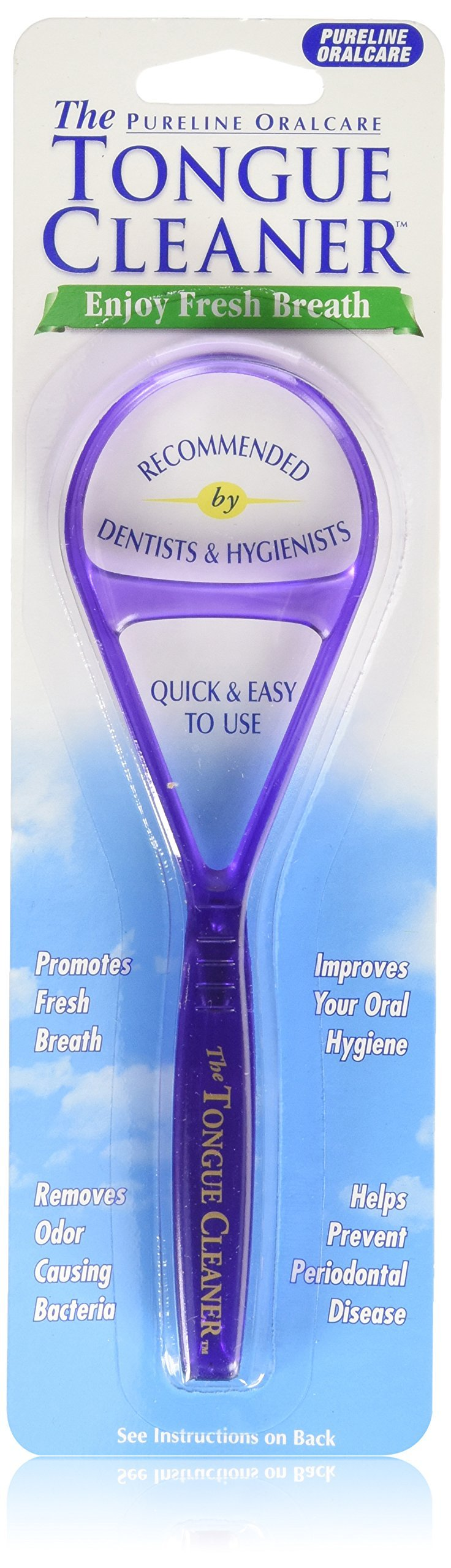 Pureline Tongue Cleaner Scraper Oralcare Color Vary, Set of 3