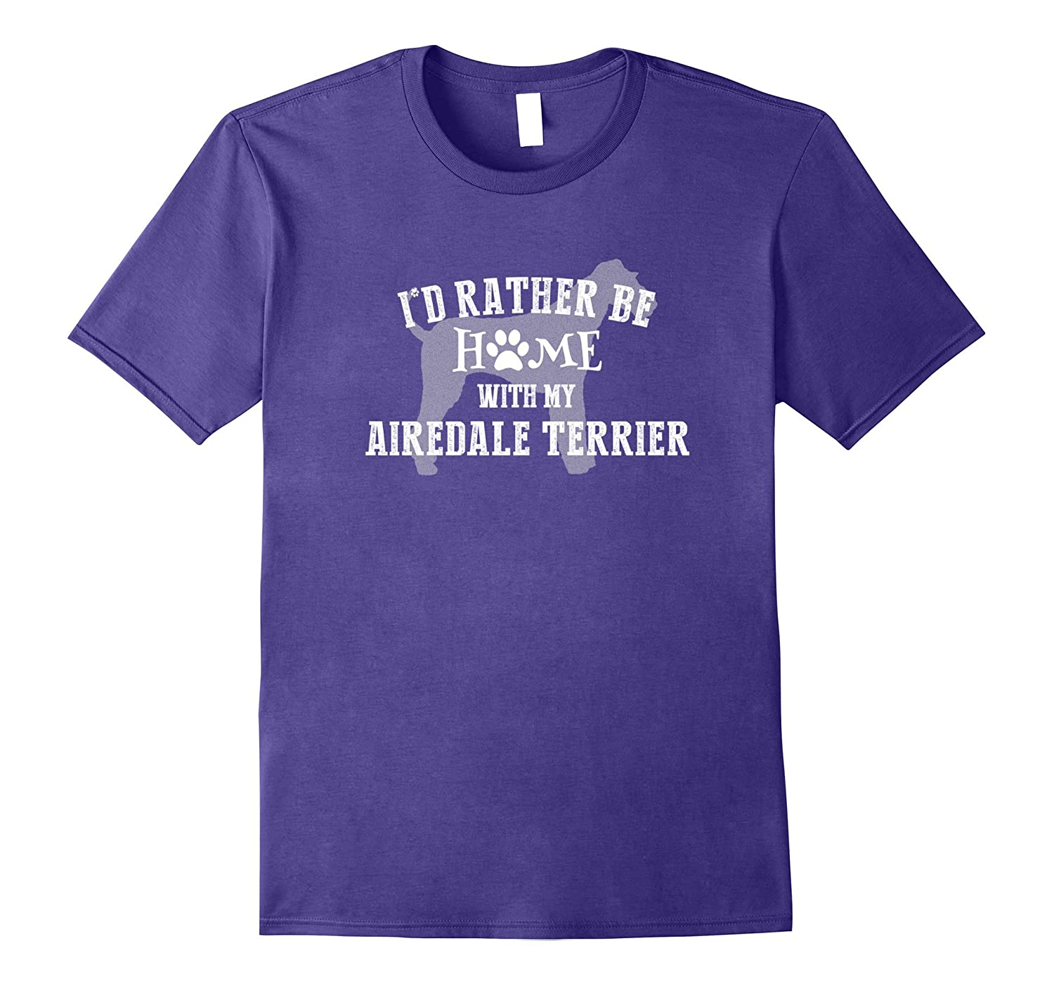 I Would Rather Be Home with My Airedale Terrier Shirt-Vaci