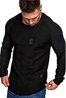 Crone Herren Langarm Shirt Longsleeve Slim Fit T Shirt