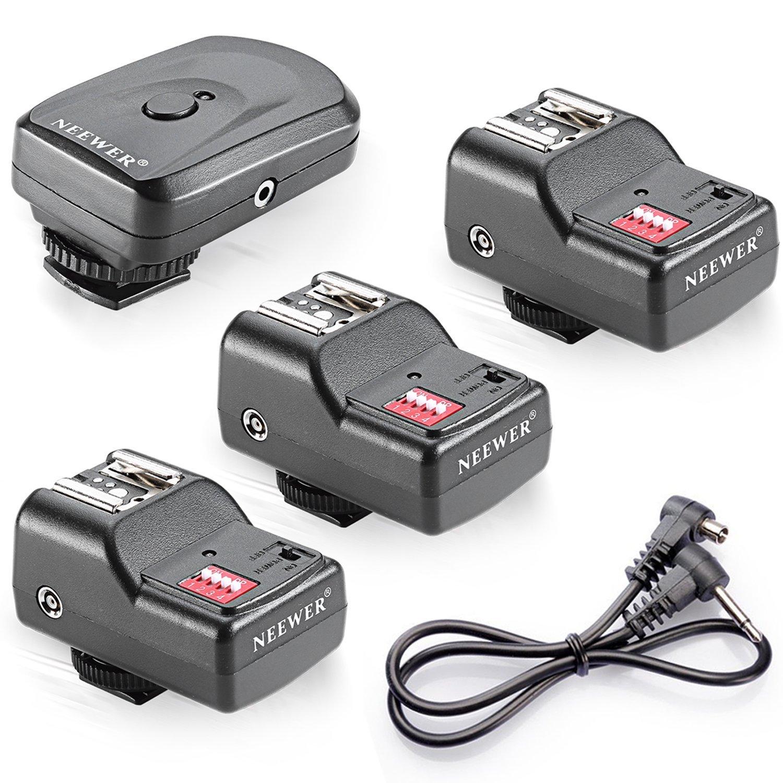 Neewer Wireless Remote FM Radio Flash Speedlite Trigger w/ 2.5mm PC 2 Receiver 10036052