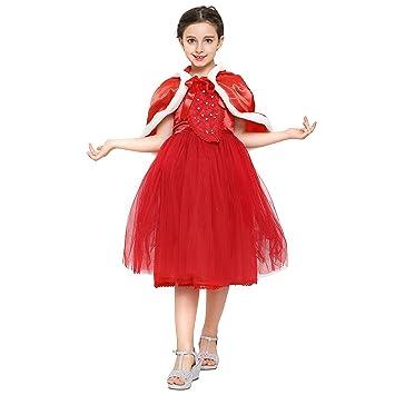 Katara Disfraz de princesa, vestido de Elsa o Caperucita Roja con falda de tul y