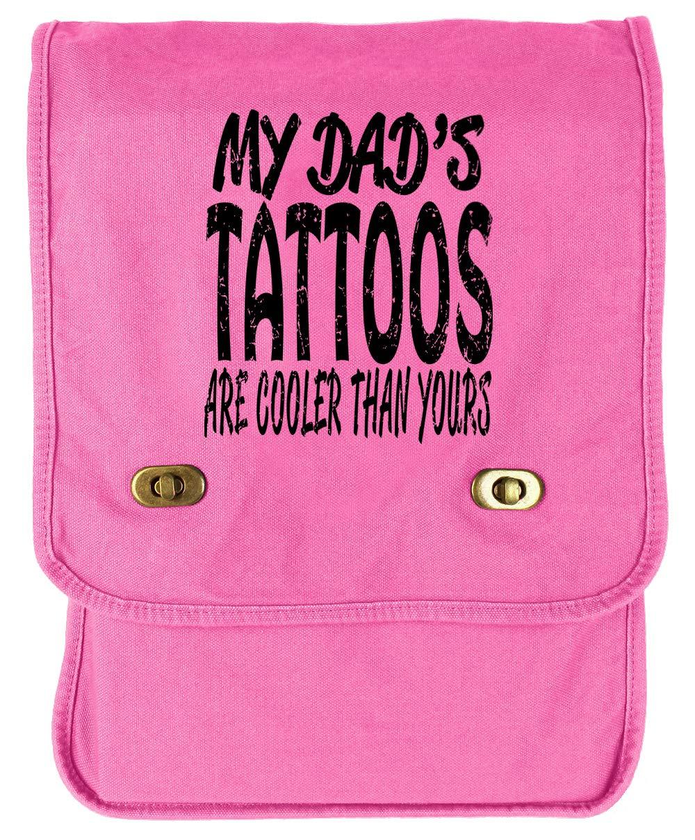 Tenacitee Dads Tattoos Flamingo Raw Edge Canvas Messenger Bag