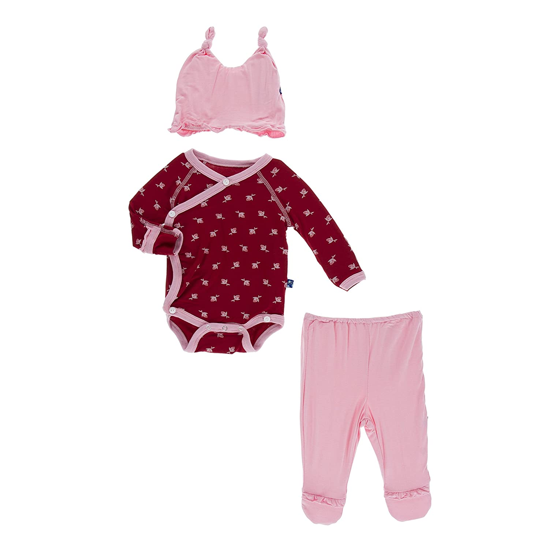 KicKee Pants Baby Girls' Ruffle Kimono Newborn Gift Set W/Elephant Box Prd-kprnbsb904-fmnf