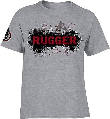 DesignDivil Rugby Rugger Grunge Impreso Camiseta Deportiva Casual Top 3 Opciones de Color SP: Amazon.es: Ropa y accesorios