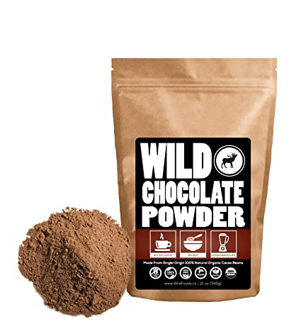 Natural Cocoa Powder, Non-Dutched Natural Process Cocoa Powder, Handcrafted, Single-Origin, Organically Grown, Non-Alkalized Chocolate from Peruvian Heirloom Cacao beans (4 ounce)