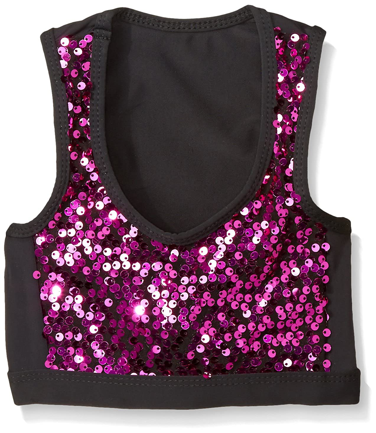 Gia Mia Dance Girls Big Sequin Block Bra Top