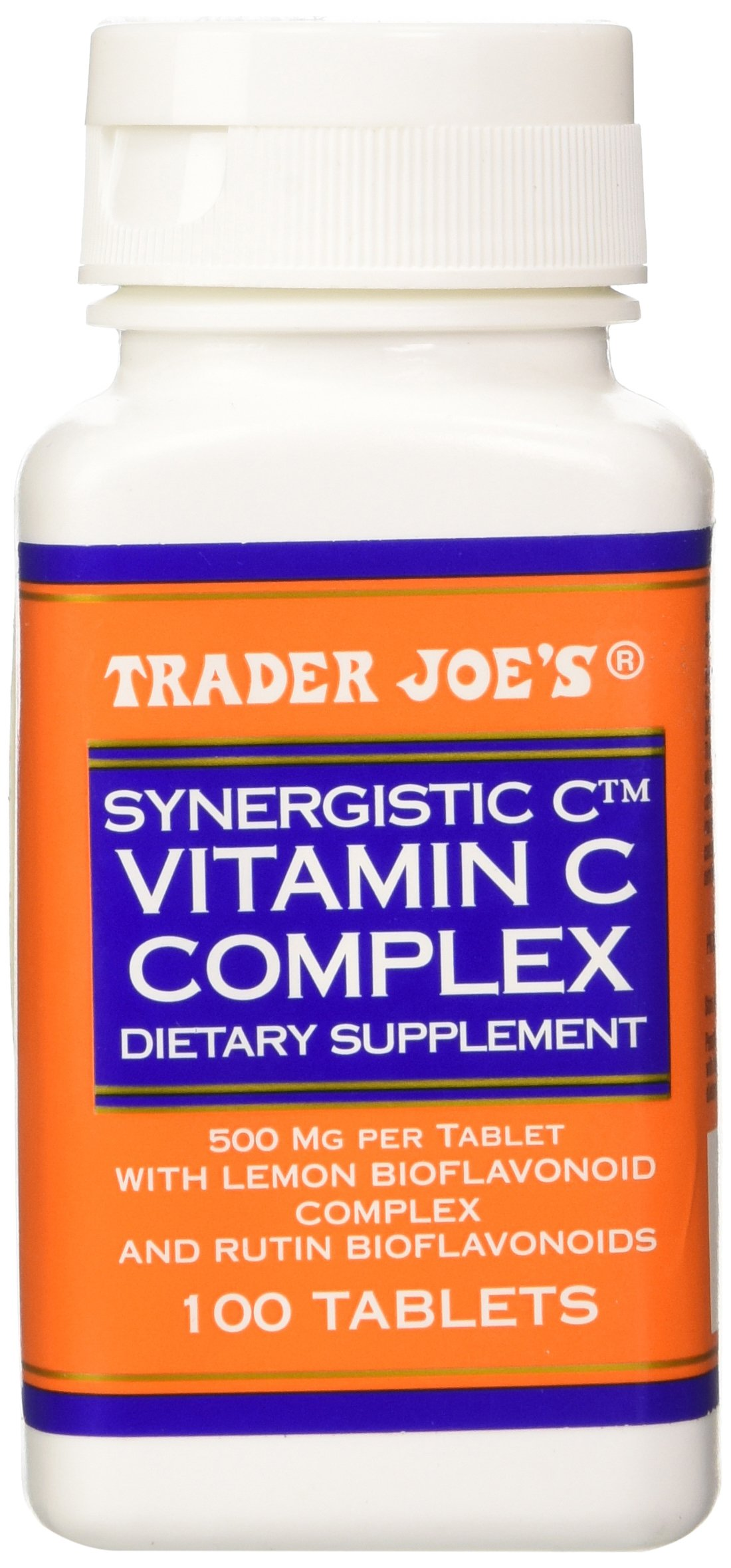 Trader Joe's Synergistic C Vitamin C Complex 500 Mg With Lemon and Rutin Bioflavonoids, 100 Tablets