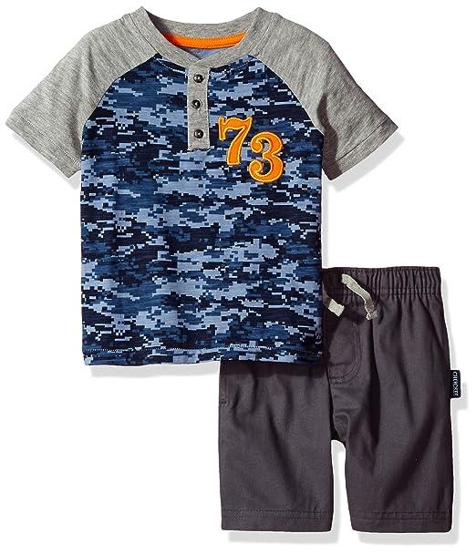 bbdf5a49c5 Cherokee Conjunto de Playera y pantalón Corto de Moda para niños ...