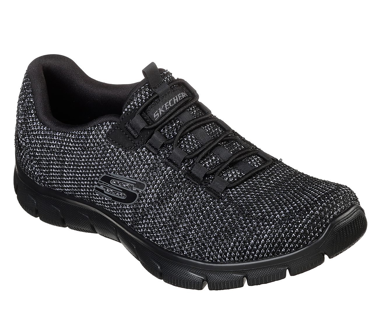 Skechers Sport Women's Empire Fashion Sneaker B07FMJVZV7 6 (B)M US|Black Knit