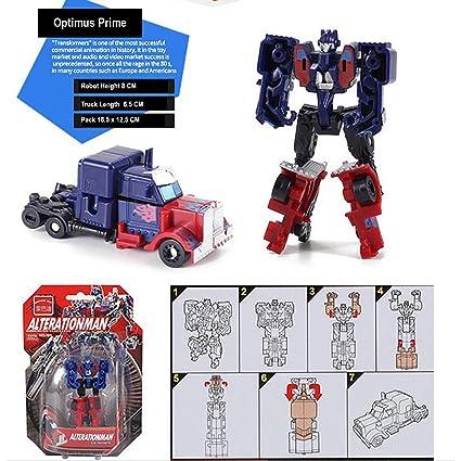 Transformation Robot Car Transformer Miniature Toys - Optimus Prime - 9CM