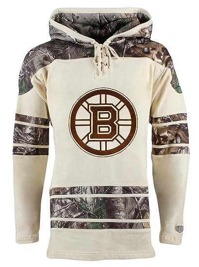 c54fe4264 Old Time Hockey NHL Boston Bruins Patrice Bergeron Men s Realtree Lacer  Name   Number Hoodie