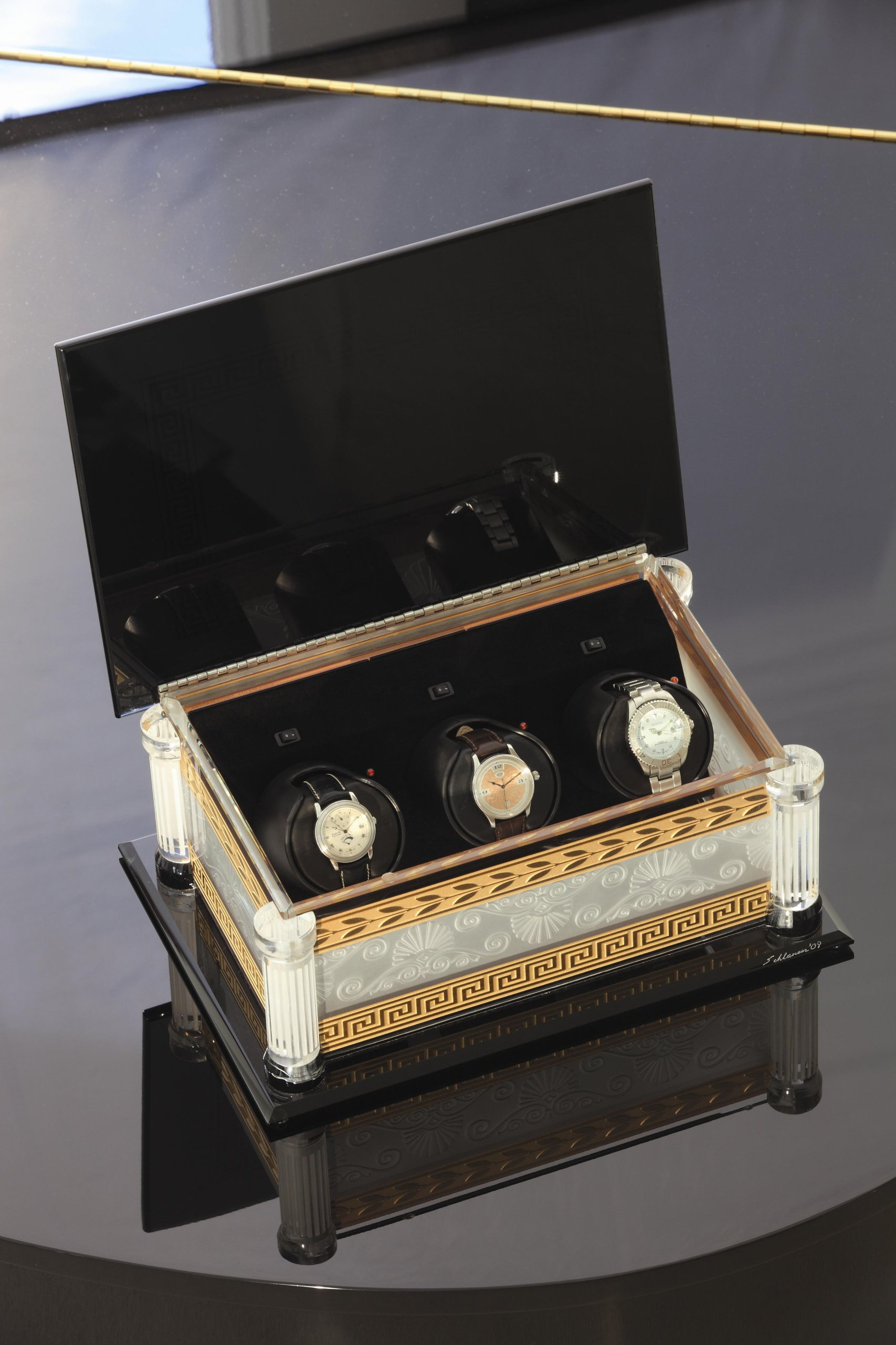 Stephen Schlanser Rotorwind Watch Winder by Orbita Signed and Dated by the Artist by Orbita