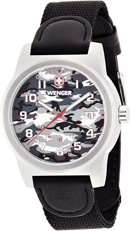Werger Classic Reloj, Unisex, Blanco (Camuflaje/Gris), Talla Única
