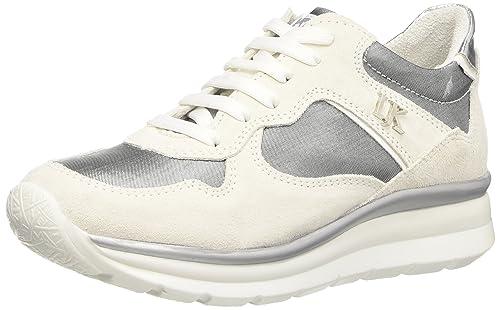 Lumberjack Spider, Zapatillas Altas para Mujer, Plateado (M0244 Off White/Silver), 36 EU: Amazon.es: Zapatos y complementos